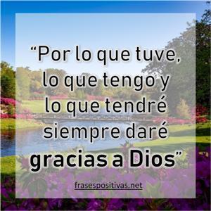pensamiento de agradecimiento s dios