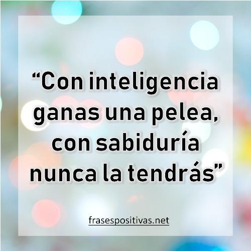 inteligencia y sabiduria