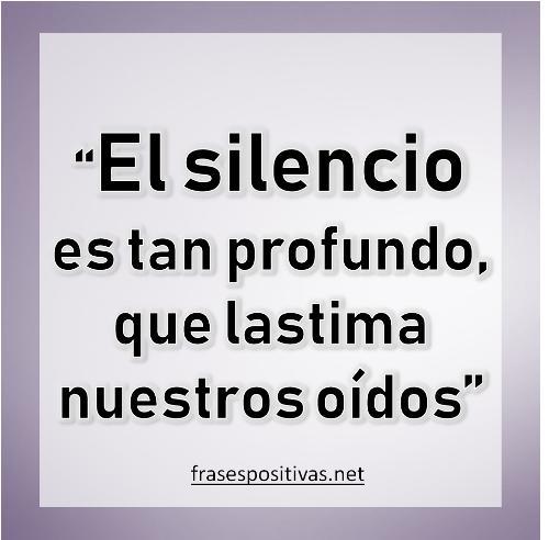 frases de silencio