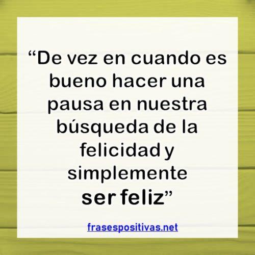 frases de ser feliz