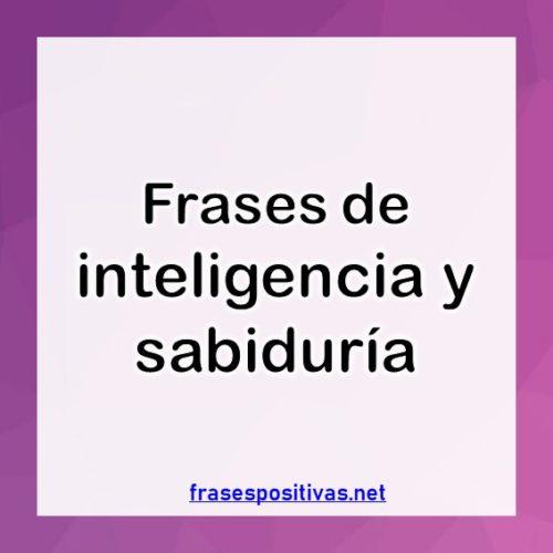 Frases sobre inteligencia